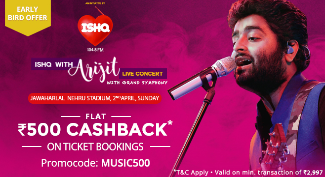 book tickets by paytm- Arijit Singh Live in Concert with