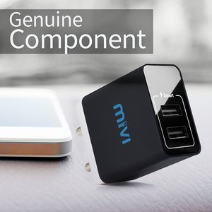Buy Mivi 3 1a Dual Port Smart Wall Charge Adapter With In Built Auto Detect Technology