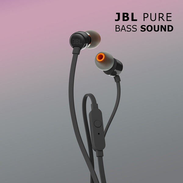 Buy JBL T110 Pure Bass In Ear Earphones With Mic (Black) Online at