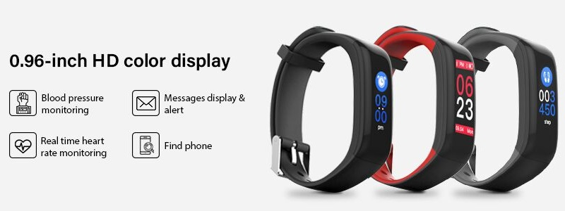 Buy Hammer Fit Pro Black Smart Fitness Tracker With Hd Color