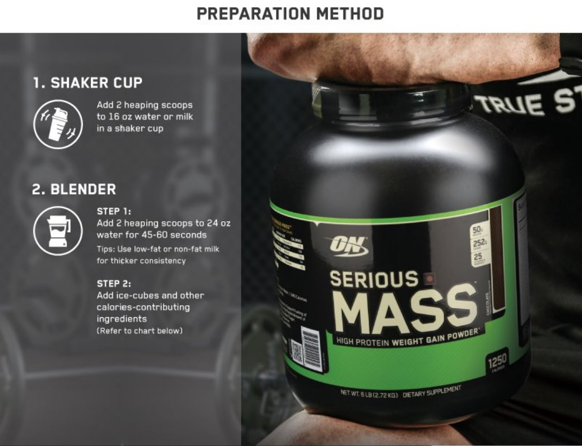 Buy Optimum Nutrition On Serious Mass Weight Gainer Powder 544 12lbs Product Highlights